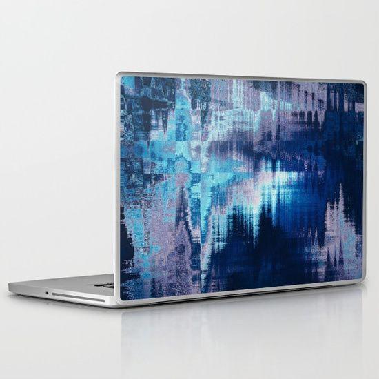 blue abstract background texture Laptop & iPad Skin #OksanaAriskina #OksanaAriskinaFineArtPhotography #Artworks #FineArtPhotography #HomeDecor #FineArtPrints #FineArtAbstract #Fractal #AbstractBackgrunds #ArtForSale  #Blue #Glitch #Distort #Laptop #iPad #Skin