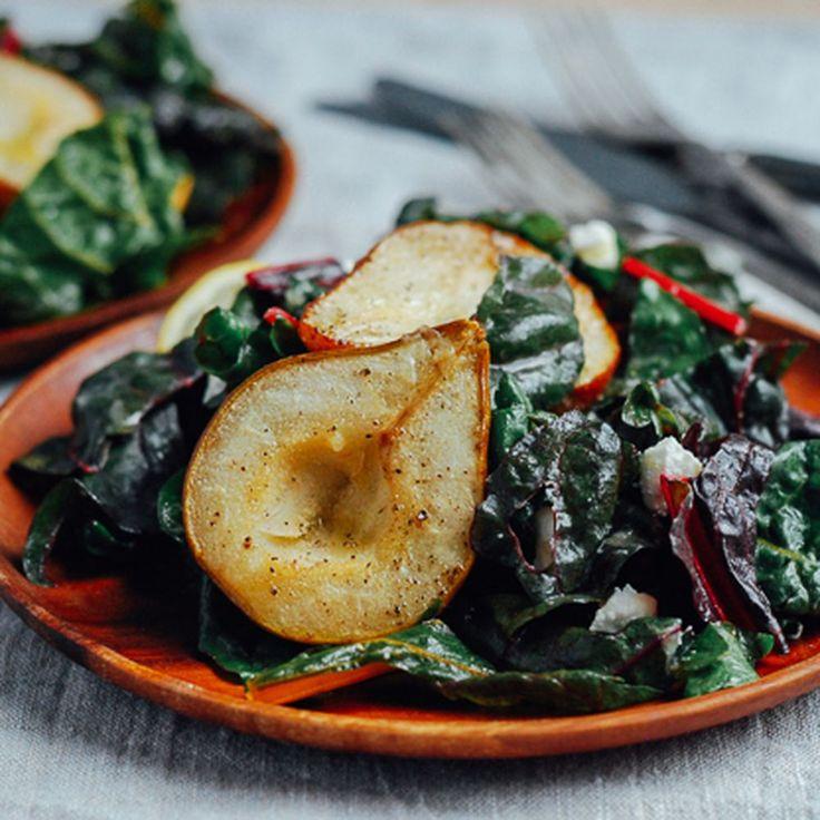 Roasted Pear and Rainbow Chard Salad Recipe on Food52 recipe on Food52