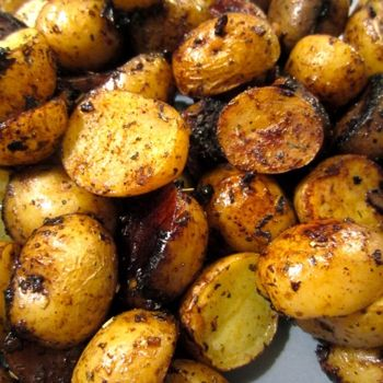 balsamic roasted potatoes I love these potatoes! Great with a roast or any red meats. I usually add a little basil and green onions too.