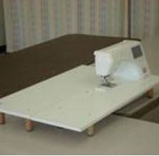 How to Make Your Own Machine Quilting Table from http://www.ehow.com/how_4673707_make-own-machine-quilting-table.html