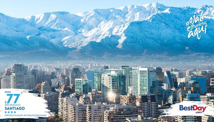 ¡Conoce nuevos destinos! Santiago de Chile con las mejores tarifas en hoteles y hasta 18 MSI.