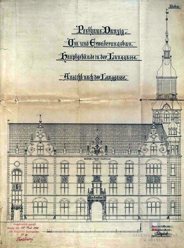 Poczta Polska Urząd Pocztowy Gdańsk 50, Gdańsk - 1896 rok, stare zdjęcia