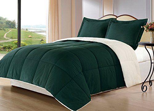 Borrego Comforter Set Queen Hunter Green 0 Orange