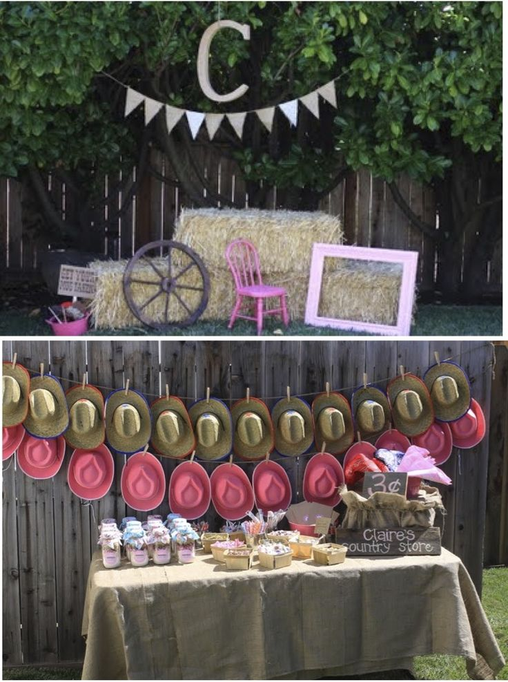 Cowgirl party decorations