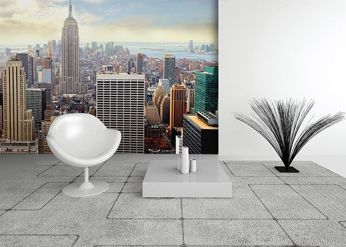 New York Blue Sky Photo Mural Wallpapers For Home Walls By  Homewallmurals.co.uk
