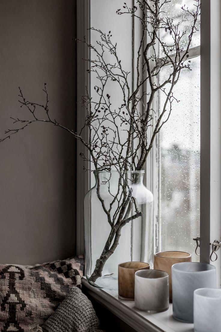 Scandinavian style window decor