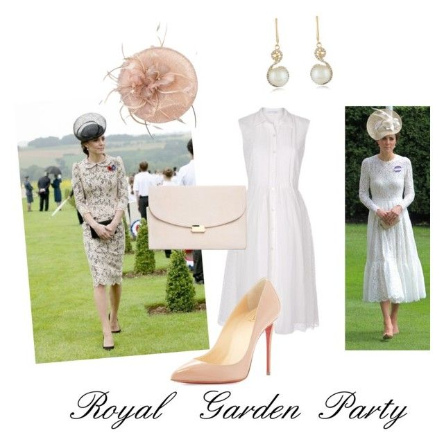 """Royal garden party"" by fashion-film-fun ❤ liked on Polyvore featuring Diane Von Furstenberg, Dolce&Gabbana, Mansur Gavriel, Effy Jewelry, Christian Louboutin and shirtdress"