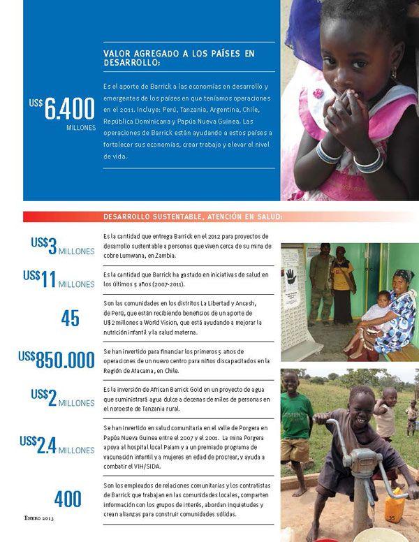 Inversión en Desarrollo Sustentable - Salud - Infografía completa en el sitio de Barrick Sudamérica http://barricksudamerica.com