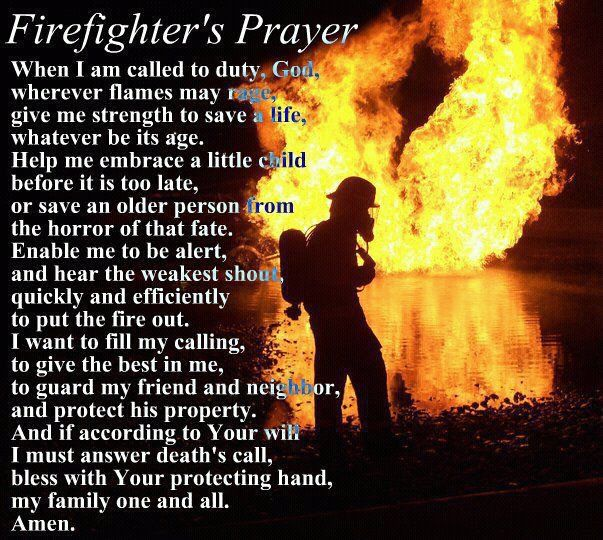 The Firefighters Prayer