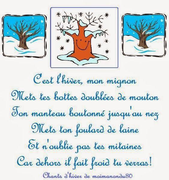 C'est l'hiver - a poem