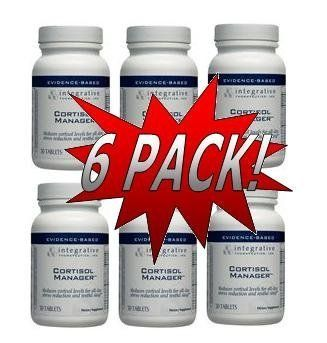 Integrative Therapeutics - Cortisol Manager (30 Tablets) 6 Pack (CM30) Reduces Stress. Sleep Aid. Reduces cortisol levels for all-day stress reduction and restful sleep. Promotes a positive mood. Increases Normal reaction time.  #ITI #HealthAndBeauty