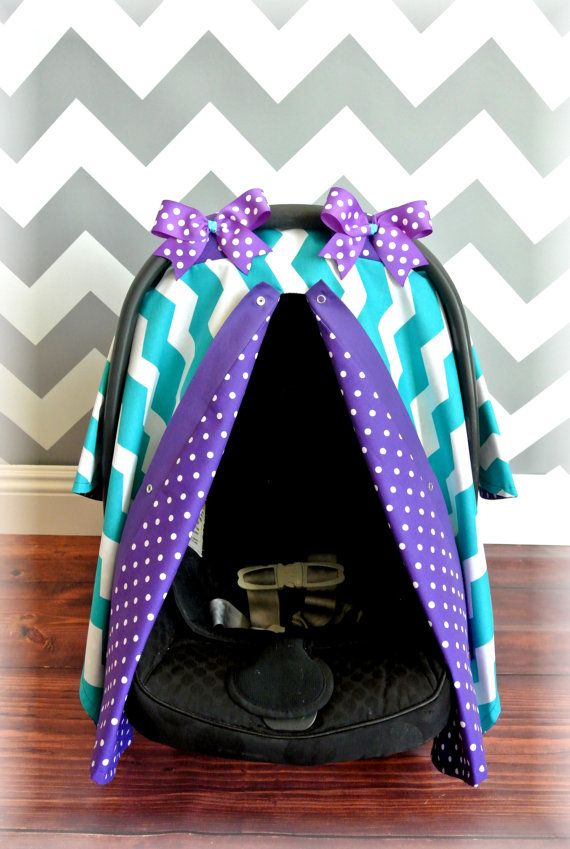 fitflop the cuddler PURPLE car seat cover canopy infant car seat by JaydenandOlivia   37 99