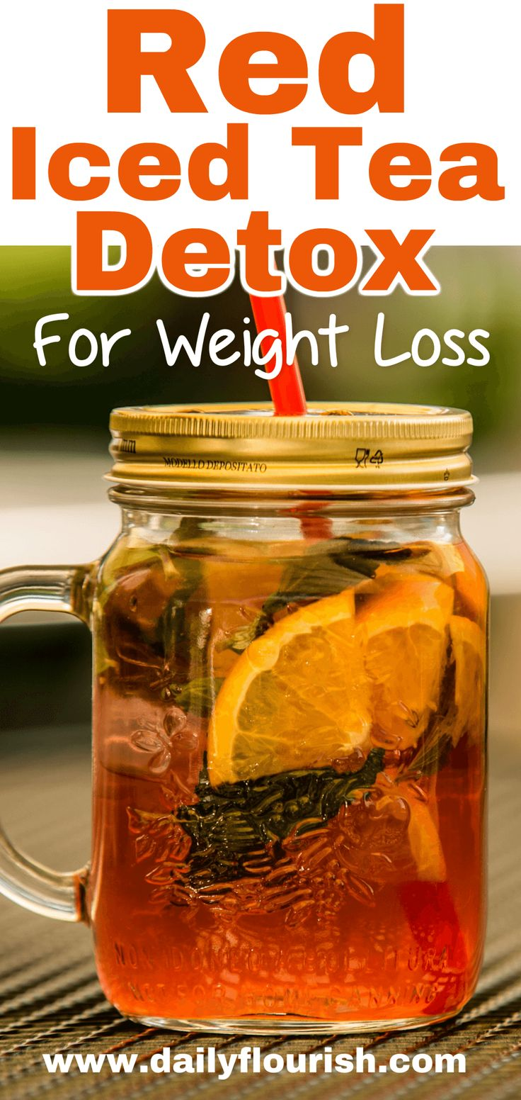 Red Iced Tea Detox Recipe for Weight Loss