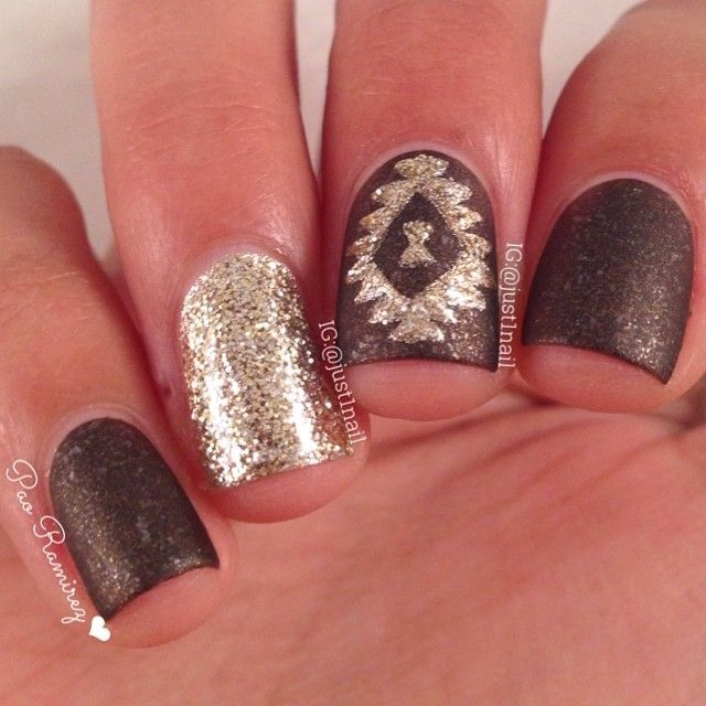 brown and gold nails - Best 25+ Western Nails Ideas On Pinterest Western Nail Art