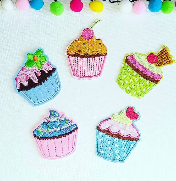 Sweet tooth alert!! This tasty set of iron on cupcake patches will be listed in my shop later today.