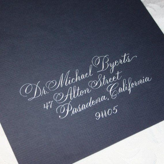 Calligraphy Wedding Envelope Addressing by by ArtfulCelebrations, $2.85  #DonnaMorganEngaged