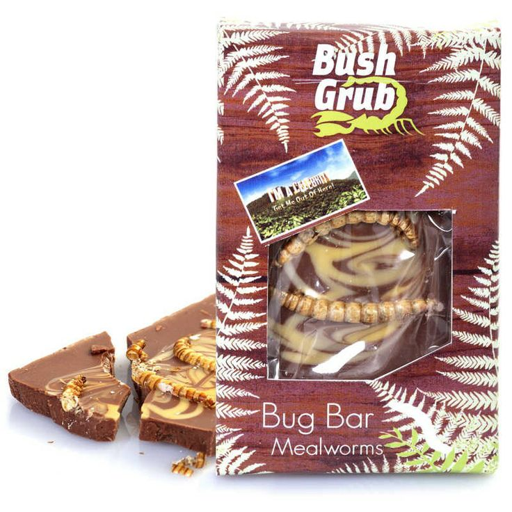 Mealworms and chocolate, sound like a perfect match don't they? This bar of scrumptious chocolate has a selection of mealworms sprinkled over the top to add an extra bit of crunch.