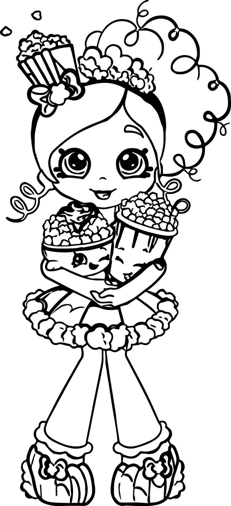 Popcorn Shopkins Girl Coloring Page. Also see the category