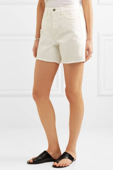 M.i.h Jeans - Caron Cut-off Denim Shorts - White - 27