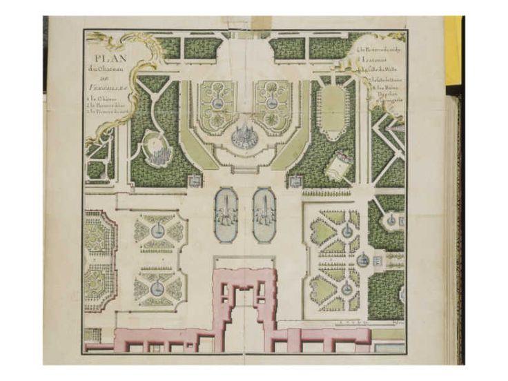 Recueil des Plans des châteaux et parcs de Versailles, Trianon et Marly vers 1732 ; Relié aux - Giclee Print
