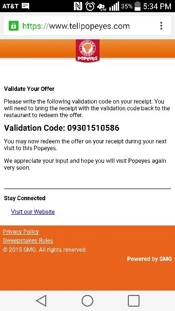 Popeyeu0027s validation code Coupons Pinterest Coupons - example of a coupon