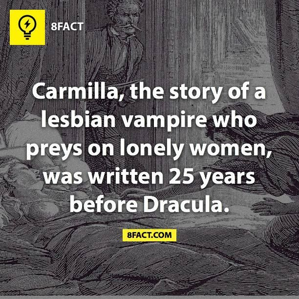 Interesting, always thought Dracula was the trend setter