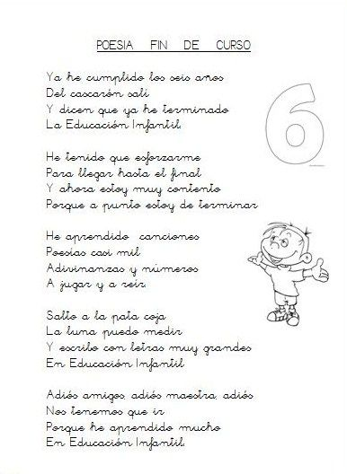 Geli Cano. Recursos para Educación Infantil.: GRADUACION. POESIA PARA FINAL DE CICLO