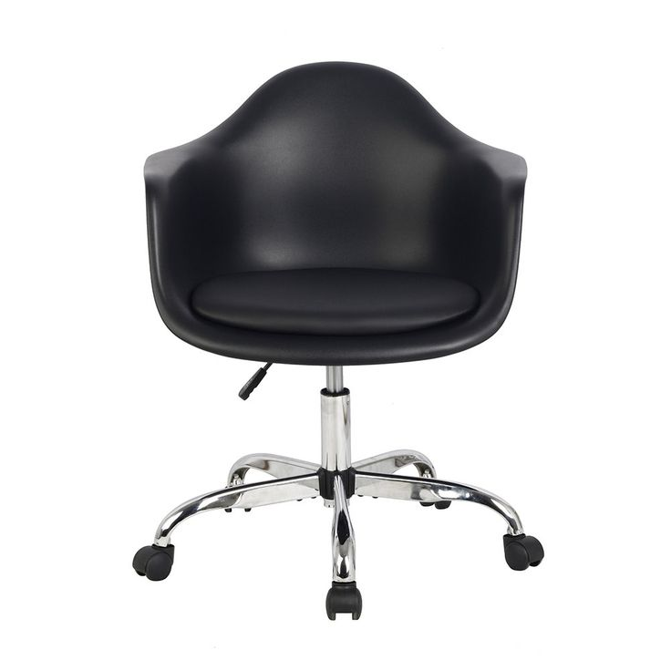 Shop Hodedah Import HIC401 BLACK Bucket Chair with Wheels at The Mine. Browse our office chairs, all with free shipping and best price guaranteed.