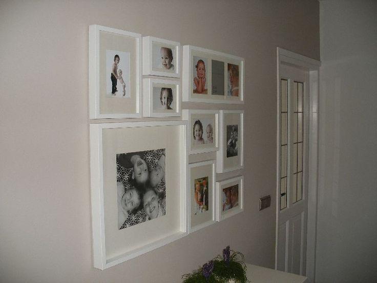 fotomuur idee n voor het huis pinterest fotolijstjes ikea en foto idee n. Black Bedroom Furniture Sets. Home Design Ideas