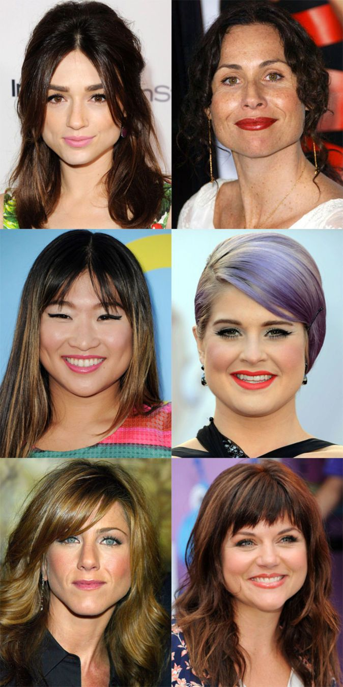 the best (and worst) bangs for pear-shaped faces | pear