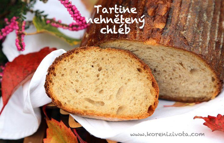 Tartine nehnětený chleba je kváskový, extra křupavý, nadýchaný chléb s okatou strukturou mechově jemné střídky. Náročný na čas, ale jednoduchý na zpracování
