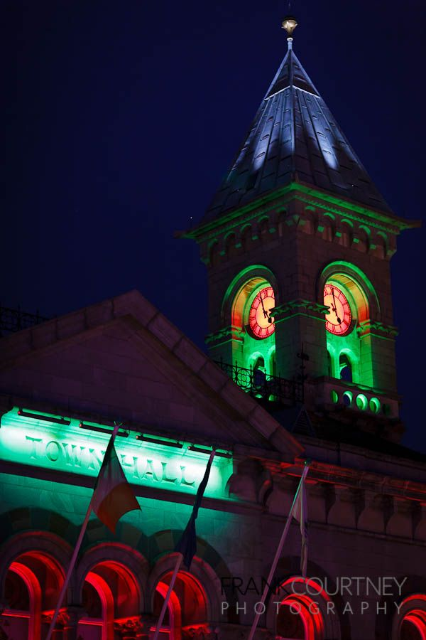 Xmas lights on the Town Hall in Dun Laoghaire