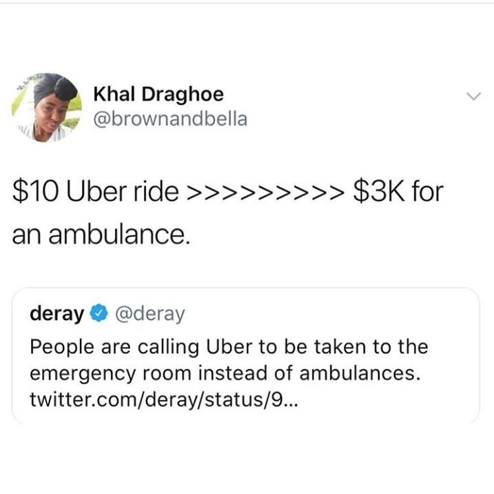 DOES AN AMBULANCE IN AMERICA COST 3K? IN SWEDEN ITS FREE! <<< yeah it does, i know, our country sucks