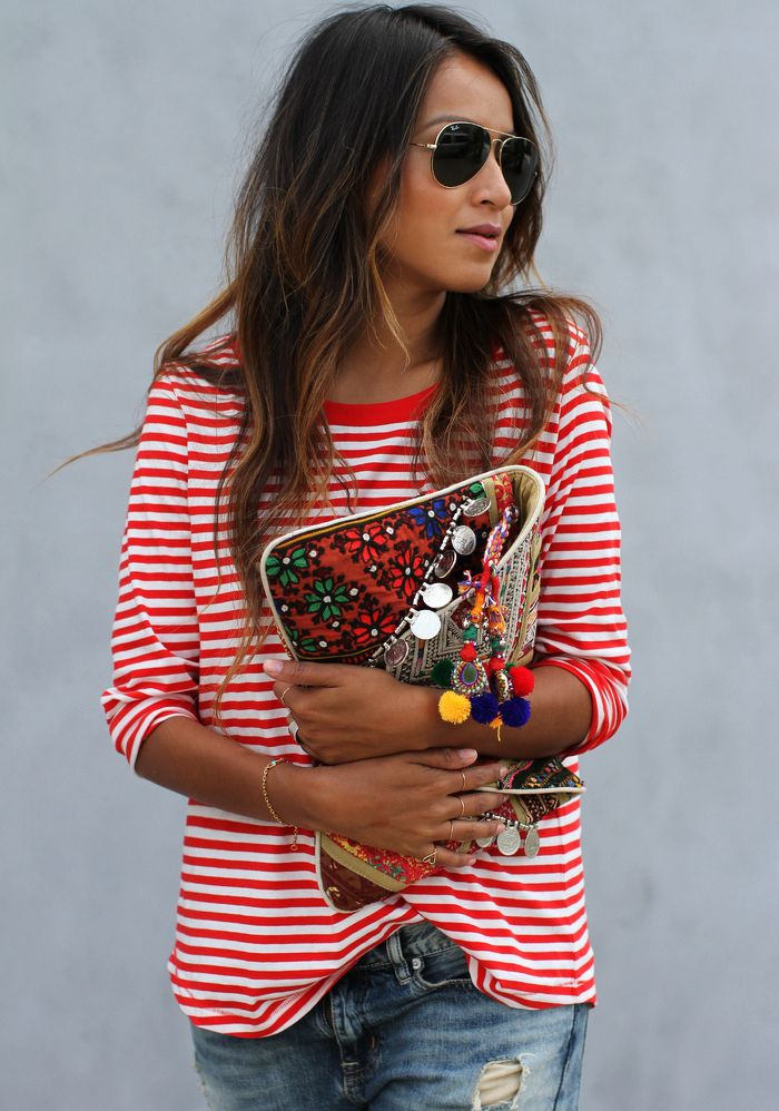Stripped Red Sweater from sincerelyjules.com