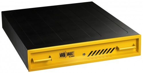 http://www.twwholesale.co.uk/product.php/section/6504/sn/Van-Vault-Slider-S10327  Van Vault Slim Slider is a power tool security box that protects the valuable tools of your trade. It has a low visibility body that is able to withstand the weight and pressure of a loaded pallet on it.