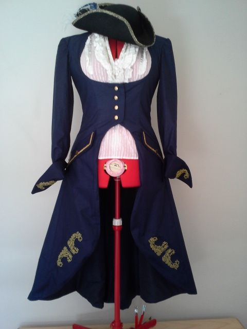 Ladies Pirate coat.I love the metallic embroidery I did on this one.