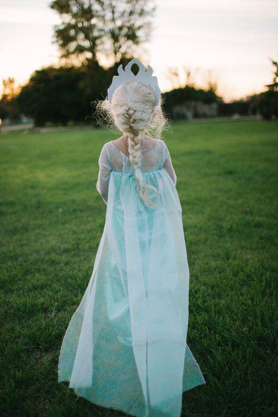 Frozen Elsa Inspired Girls Costume
