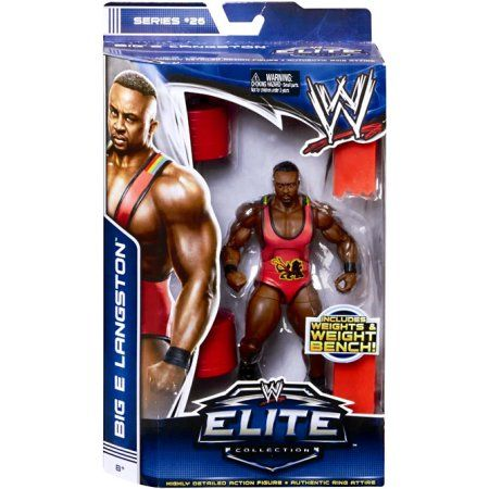 Big E Langston Action Figure Weights Weight Bench Elite Series 26 Multicolor