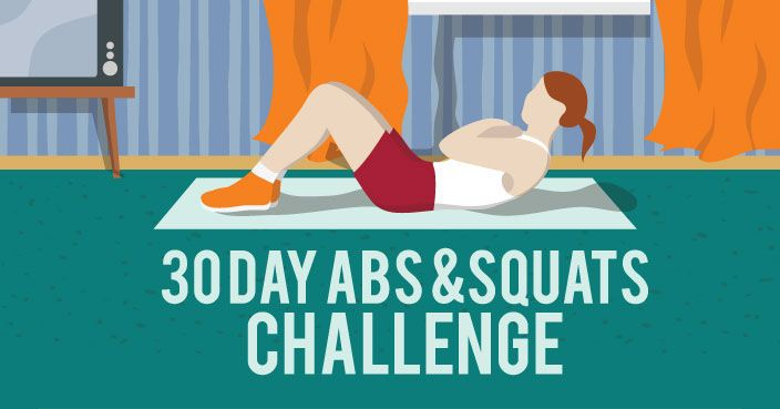 30 Day Abs and Squats Challenge | Fitness Republic