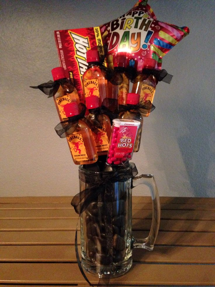 Fireball Bouquet Gift Basket Gift Basket Ideas