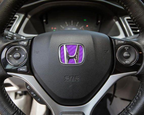 Carbon Fiber Peel N' Stick Inlay Steering Wheel Vinyl Decal Sticker. 2012-2015 Honda Civic, 2008-2012 Honda Accord, 2012-2015 Honda CR-V. by A13tsyStore