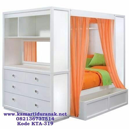 Jual Tempat Tidur Susun Kanopi Minimalis Multifungsi, Ranjang Susun Anak Kanopi Multifungsi Modern, Tempat Tidur Susun Anak Minimalis Murah