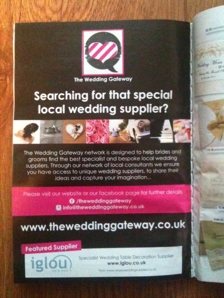 Our advert in July edition of Wedding Ideas Magazine ... our first national advert (and we were very happy as the business only went live 1st April 2013 :)