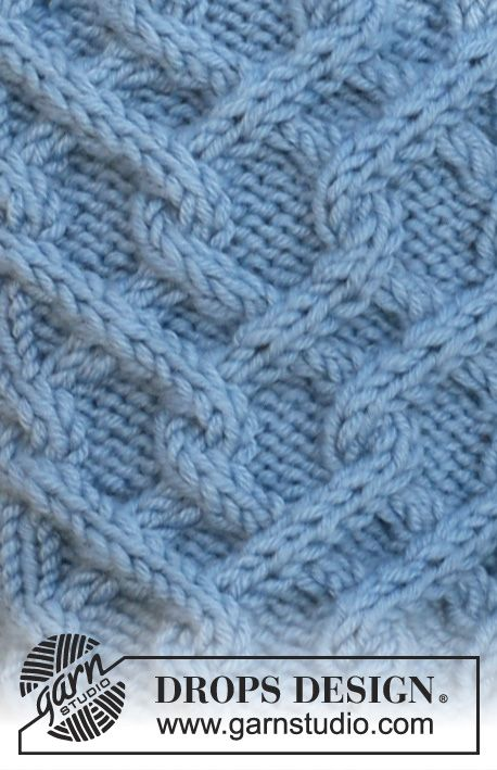 """DROPS 115-13 - DROPS hat and gloves in """"Merino Extra Fine"""" with cables. - Free pattern by DROPS Design"""