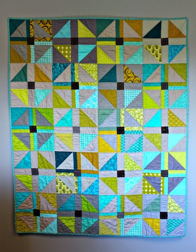 Shoo Fly quilt. Great use of color - it seems to glow!  A Quilter's Table: Fresh Sewing Day