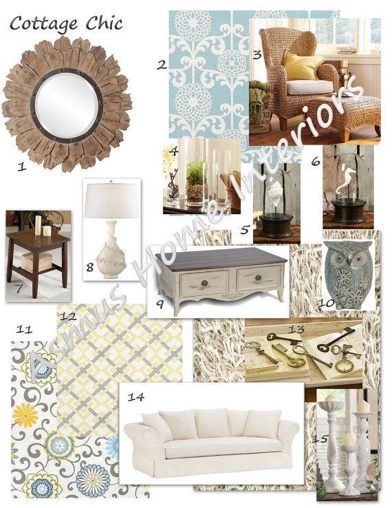 Custom Moodboard EDecorating Plan Interior Design Inspiration Board Style