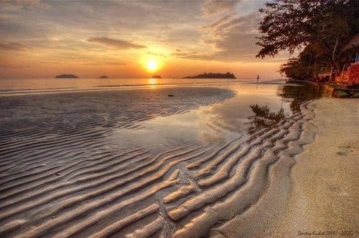 seashore sunset