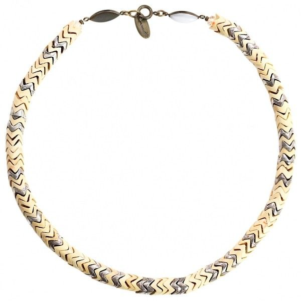 Pre-owned Isabel Marant Necklace (£67) ❤ liked on Polyvore featuring jewelry, necklaces, beige, women jewellery necklaces, pre owned jewelry, isabel marant necklace, isabel marant, preowned jewelry and isabel marant jewelry