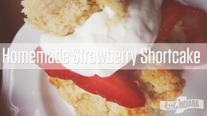 Homemade Strawberry Shortcake Recipe :http://littleindiana.com/2015/07/homemade-strawberry-shortcake-recipe/