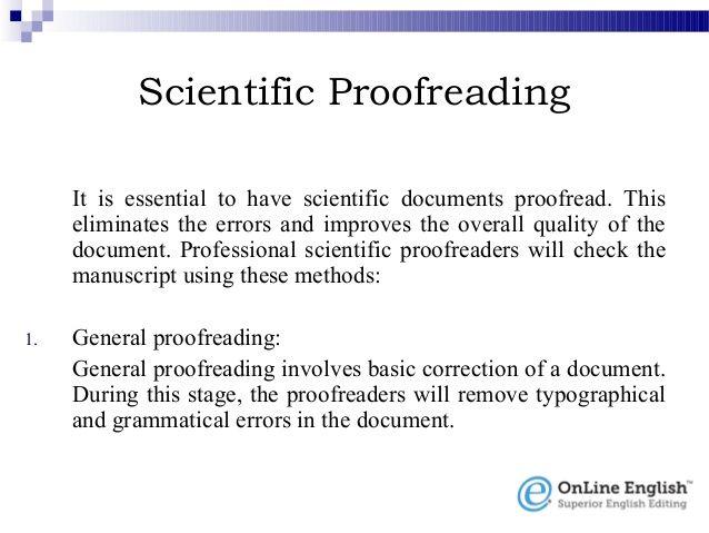 English paper editing service
